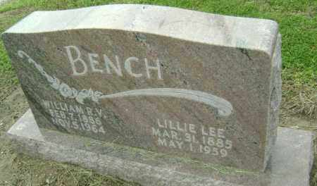 "SHARP BENCH, LILLIAN LEE ""LILLIE"" - Lawrence County, Arkansas 
