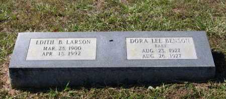 LARSON, EDITH B. SHARP BENSON - Lawrence County, Arkansas | EDITH B. SHARP BENSON LARSON - Arkansas Gravestone Photos