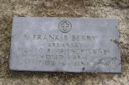 BERRY (VETERAN WWII), FRANK B - Lawrence County, Arkansas | FRANK B BERRY (VETERAN WWII) - Arkansas Gravestone Photos