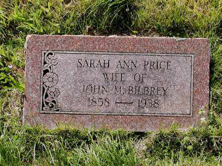 PRICE BILBREY, SARAH ANN - Lawrence County, Arkansas | SARAH ANN PRICE BILBREY - Arkansas Gravestone Photos