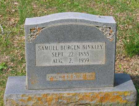 BINKLEY, SAMUEL BURGEN - Lawrence County, Arkansas | SAMUEL BURGEN BINKLEY - Arkansas Gravestone Photos