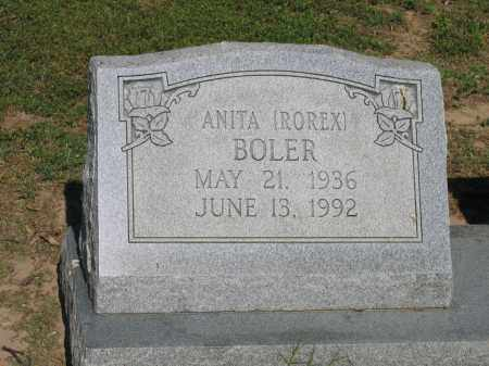 ROREX BOLER, ANITA - Lawrence County, Arkansas | ANITA ROREX BOLER - Arkansas Gravestone Photos