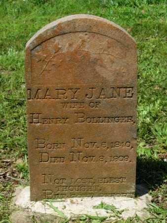BOLLINGER, MARY JANE - Lawrence County, Arkansas | MARY JANE BOLLINGER - Arkansas Gravestone Photos
