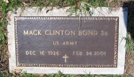 BOND, SR. (VETERAN), MACK CLINTON - Lawrence County, Arkansas | MACK CLINTON BOND, SR. (VETERAN) - Arkansas Gravestone Photos