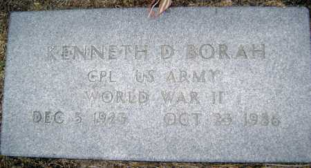 BORAH  (VETERAN WWII), KENNETH D. - Lawrence County, Arkansas | KENNETH D. BORAH  (VETERAN WWII) - Arkansas Gravestone Photos