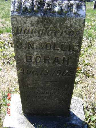 BORAH, INFANT DAUGHTER - Lawrence County, Arkansas | INFANT DAUGHTER BORAH - Arkansas Gravestone Photos
