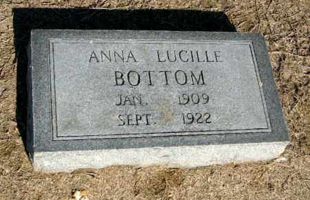 BOTTOM, ANNA LUCILLE - Lawrence County, Arkansas | ANNA LUCILLE BOTTOM - Arkansas Gravestone Photos