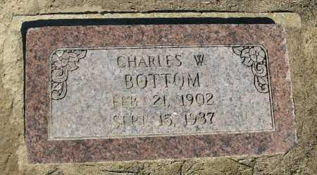 BOTTOM, CHARLES W. - Lawrence County, Arkansas   CHARLES W. BOTTOM - Arkansas Gravestone Photos