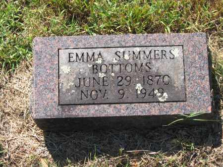 SUMMERS BOTTOMS, EMMA - Lawrence County, Arkansas | EMMA SUMMERS BOTTOMS - Arkansas Gravestone Photos