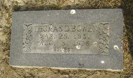 BOWEN, THOMAS D. - Lawrence County, Arkansas | THOMAS D. BOWEN - Arkansas Gravestone Photos