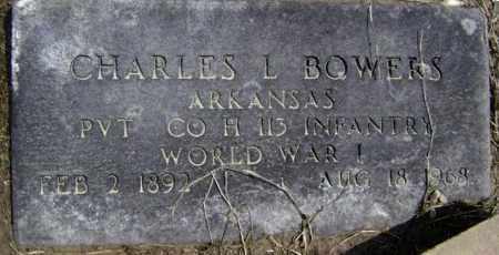 BOWERS  (VETERAN WWI), CHARLES L - Lawrence County, Arkansas | CHARLES L BOWERS  (VETERAN WWI) - Arkansas Gravestone Photos