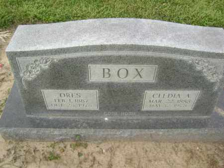 "BOX, ORESTUS ""ORES"" - Lawrence County, Arkansas 