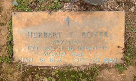 BOYER  (VETERAN WWI), HERBERT THURMAN - Lawrence County, Arkansas | HERBERT THURMAN BOYER  (VETERAN WWI) - Arkansas Gravestone Photos