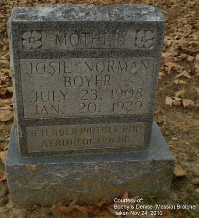 "NORMAN BOYER, ZUMA JOSEPHINE ""JOSIE"" - Lawrence County, Arkansas | ZUMA JOSEPHINE ""JOSIE"" NORMAN BOYER - Arkansas Gravestone Photos"