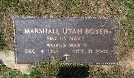 BOYER (VETERAN WWII), MARSHALL UTAH - Lawrence County, Arkansas | MARSHALL UTAH BOYER (VETERAN WWII) - Arkansas Gravestone Photos