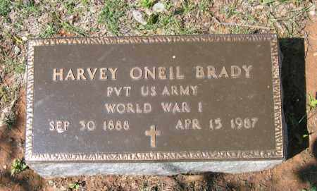 BRADY (VETERAN WWI), HARVEY ONEIL - Lawrence County, Arkansas | HARVEY ONEIL BRADY (VETERAN WWI) - Arkansas Gravestone Photos