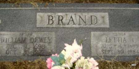BRAND, LETTIA IVETTA - Lawrence County, Arkansas | LETTIA IVETTA BRAND - Arkansas Gravestone Photos