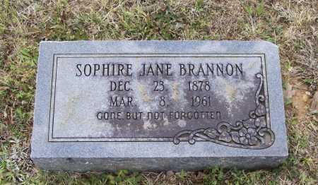 CASPER BRANNON, SOPHIRE JANE - Lawrence County, Arkansas | SOPHIRE JANE CASPER BRANNON - Arkansas Gravestone Photos
