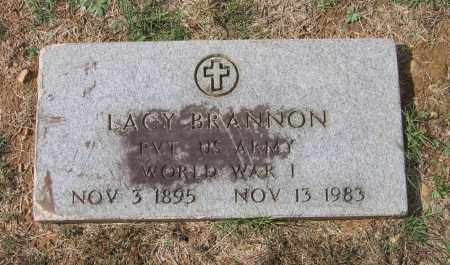 BRANNON (VETERAN WWI), ROBERT LACY - Lawrence County, Arkansas | ROBERT LACY BRANNON (VETERAN WWI) - Arkansas Gravestone Photos