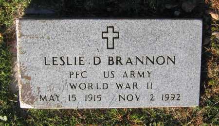 BRANNON (VETERAN WWII), LESLIE DEVOE - Lawrence County, Arkansas | LESLIE DEVOE BRANNON (VETERAN WWII) - Arkansas Gravestone Photos
