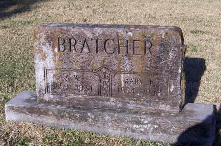 "BRATCHER, ALLEN W.  ""A. W."" - Lawrence County, Arkansas | ALLEN W.  ""A. W."" BRATCHER - Arkansas Gravestone Photos"