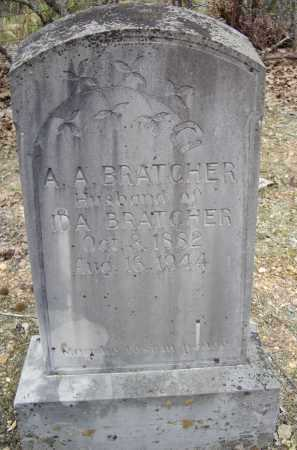 "BRATCHER, ALBERT ALLEN ""A. A."" - Lawrence County, Arkansas 