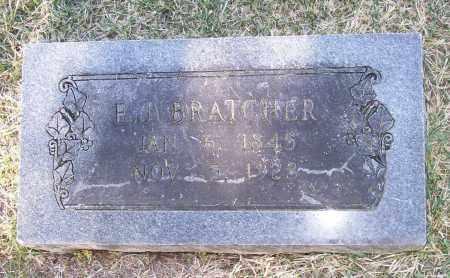 """BRATCHER (VETERAN CSA), ELIJAH JUBILEE """"JUBE"""" - Lawrence County, Arkansas   ELIJAH JUBILEE """"JUBE"""" BRATCHER (VETERAN CSA) - Arkansas Gravestone Photos"""