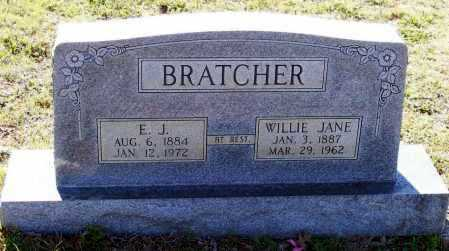 BRATCHER, WILLIE JANE - Lawrence County, Arkansas | WILLIE JANE BRATCHER - Arkansas Gravestone Photos