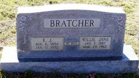 HOOTEN BRATCHER, WILLIE JANE - Lawrence County, Arkansas | WILLIE JANE HOOTEN BRATCHER - Arkansas Gravestone Photos