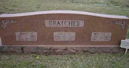 BRATCHER, JOHN ZACK - Lawrence County, Arkansas | JOHN ZACK BRATCHER - Arkansas Gravestone Photos