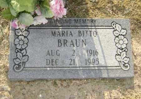 BITTO BRAUN, MARIA - Lawrence County, Arkansas | MARIA BITTO BRAUN - Arkansas Gravestone Photos