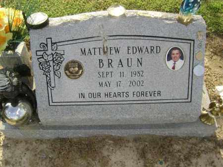 BRAUN, MATTHEW EDWARD - Lawrence County, Arkansas | MATTHEW EDWARD BRAUN - Arkansas Gravestone Photos