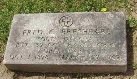 BRESHEARS  (VETERAN WWI), FRED CALVIN - Lawrence County, Arkansas | FRED CALVIN BRESHEARS  (VETERAN WWI) - Arkansas Gravestone Photos