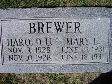 BREWER, HAROLD U. - Lawrence County, Arkansas | HAROLD U. BREWER - Arkansas Gravestone Photos
