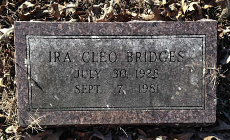 BRIDGES, IRA CLEO - Lawrence County, Arkansas | IRA CLEO BRIDGES - Arkansas Gravestone Photos
