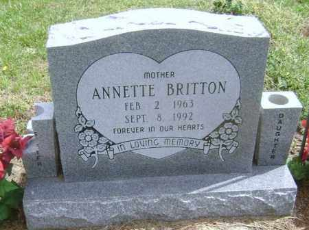 BRITTON, ANNETTE ELIZABETH BRIDGETT - Lawrence County, Arkansas | ANNETTE ELIZABETH BRIDGETT BRITTON - Arkansas Gravestone Photos