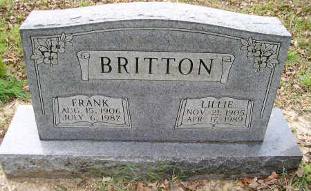 "BRITTON, GEORGE FRANKLIN ""FRANK"" - Lawrence County, Arkansas 