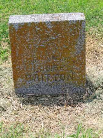 BRITTON, LOUISE - Lawrence County, Arkansas | LOUISE BRITTON - Arkansas Gravestone Photos