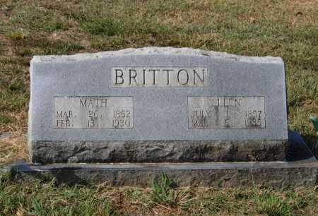 "BRITTON, MATTHEW WINSTON ""MATH"" - Lawrence County, Arkansas 
