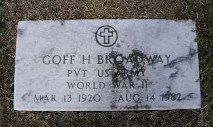 BROADWAY (VETERAN WWII), GOFF HARMON - Lawrence County, Arkansas | GOFF HARMON BROADWAY (VETERAN WWII) - Arkansas Gravestone Photos