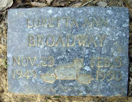 BROADWAY, LORETTA ANN - Lawrence County, Arkansas | LORETTA ANN BROADWAY - Arkansas Gravestone Photos