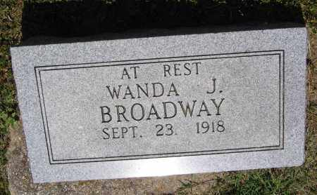 BROADWAY, WANDA J. - Lawrence County, Arkansas | WANDA J. BROADWAY - Arkansas Gravestone Photos