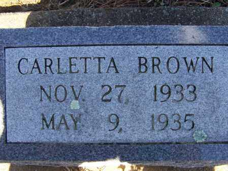BROWN, CARLETTA - Lawrence County, Arkansas | CARLETTA BROWN - Arkansas Gravestone Photos