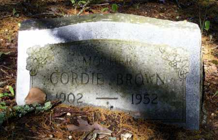 BROWN, CORDIE - Lawrence County, Arkansas | CORDIE BROWN - Arkansas Gravestone Photos