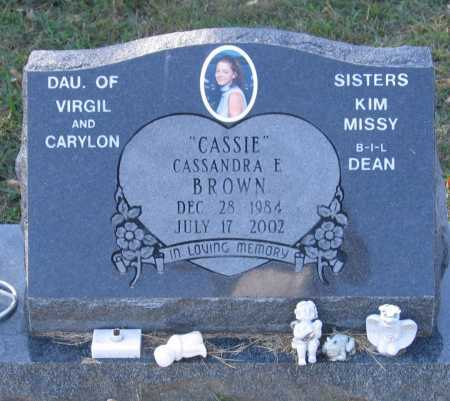 "BROWN, CASSANDRA ELIZABETH ""CASSIE"" - Lawrence County, Arkansas 