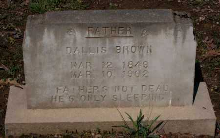 BROWN, GEORGE M. DALLIS - Lawrence County, Arkansas | GEORGE M. DALLIS BROWN - Arkansas Gravestone Photos