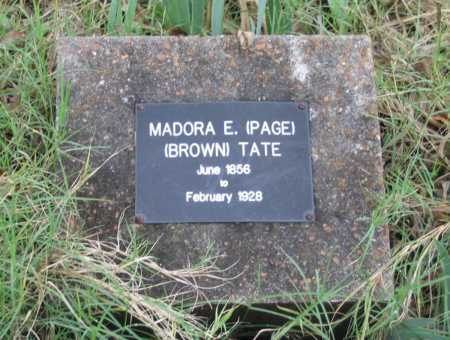 PAGE BROWN, MADORA EMALINE - Lawrence County, Arkansas | MADORA EMALINE PAGE BROWN - Arkansas Gravestone Photos