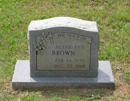 OLDHAM BROWN, NETTIE EVIA - Lawrence County, Arkansas | NETTIE EVIA OLDHAM BROWN - Arkansas Gravestone Photos