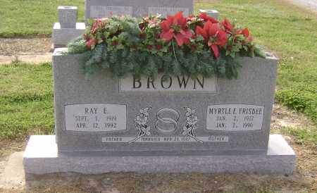 FRISBEE BROWN, MYRTLE ETHEL - Lawrence County, Arkansas | MYRTLE ETHEL FRISBEE BROWN - Arkansas Gravestone Photos