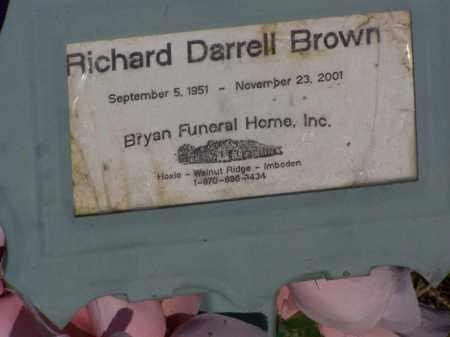 BROWN, RICHARD DARRELL - Lawrence County, Arkansas | RICHARD DARRELL BROWN - Arkansas Gravestone Photos